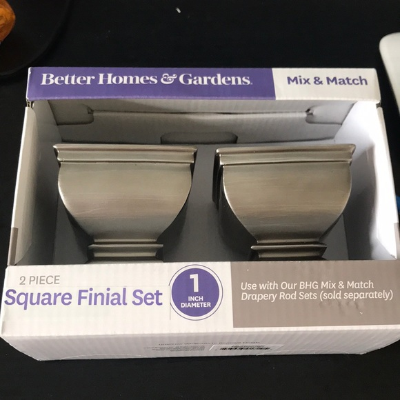 BETTER HOMES 2Pc SQUARE CURTAIN ROD